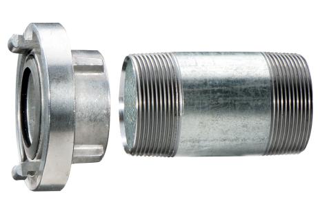 """Attacco Storz 1 1/2"""" contubazione di prolunga 100 mm (628801000)"""