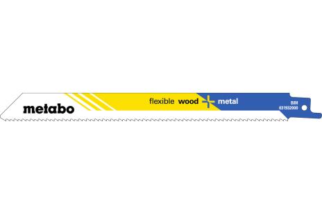 5 lame per seghe diritte, legno+metallo,flexible,200x0,9mm (631932000)