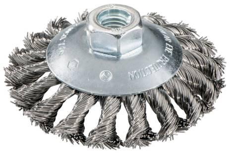 Spazzola rotonda 100x0,5x10 mm/ M 14, acciaio intrecciato, zancato (623803000)