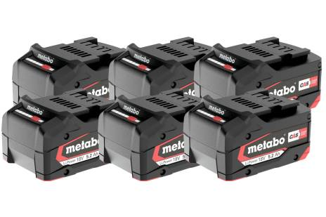 Set 6 batterie Li-Power 18 V/5,2 Ah (625152000)