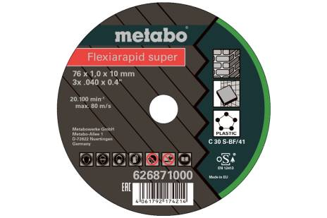 5 Flexiarapid Super 76x1,0x10,0 mm universali (626871000)