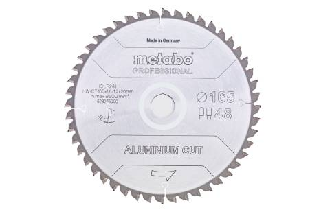 """Lama """"aluminium cut - professional"""", 165x20 Z48 FZ/TZ 5°neg (628276000)"""