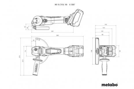 WB 18 LTX BL 180 (613087840) Smerigliatrice angolare a batteria
