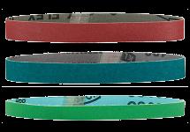 Šlifavimo priemonės tiesiniams juostiniams šlifuokliams