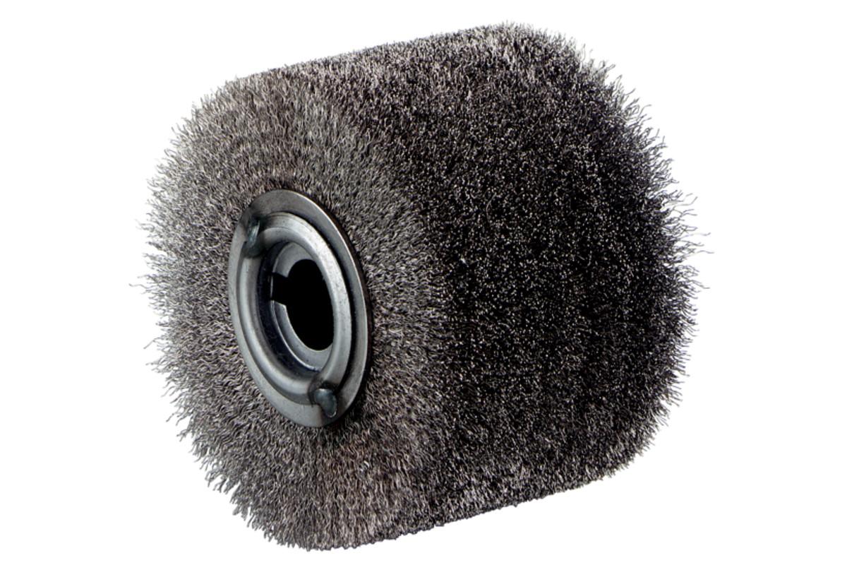 Apvalus plieninės vielos šepetėlis, nerūdijantysis plienas, 100x70 mm (623503000)