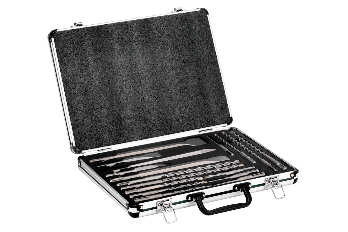 """""""SDS plus"""" grąžtų ir kaltukų rinkinys, SP, 17 dalių, aliumininiame lagaminėlyje (628414000)"""