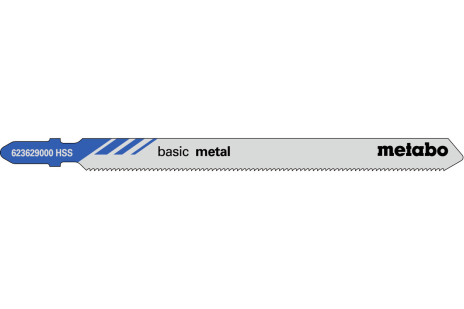 5 siaurapjūklio geležtės, metalui, classic, 106/1,2 mm (623629000)