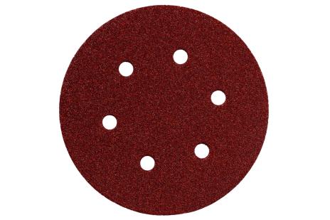 5 vnt. prikimbančių šlifavimo lakštų, 150 mm P 40, med.+met., SXE (624001000)
