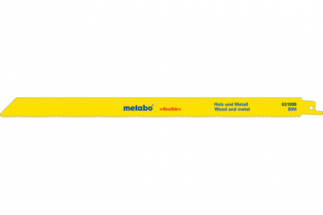 25 peilinio pjūklo geležtės, med.+met., flexible, 300x0,9mm (628248000)