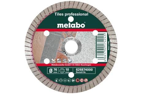 "Deimantinis pjovimo diskas, 76x10,0mm, ""TP"", keraminėms plytelėms ""professional"" (626874000)"