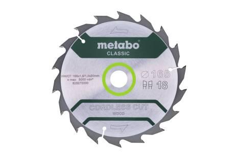 "Pjovimo diskas ""cordless cut wood - classic"", 165x20 Z18 WZ 20° (628272000)"
