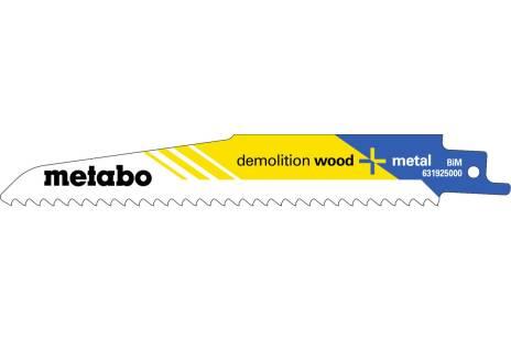 """5 tiesinio pjūklo geležtės """"demolition wood + metal"""" 150 x 1,6 mm (631925000)"""
