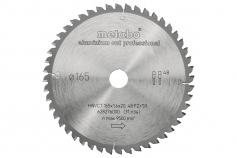 "Pjovimo diskas ""aluminium cut - professional"", 165x20 Z48 FZ/TZ 5°neg (628276000)"
