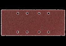 93 x 230 mm slīpēšanas plāksnes ar 8 atverēm, piestiprināmas ar skavām