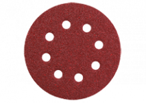 Ø 125 mm slīpēšanas diski ar līplenti un 8 atverēm