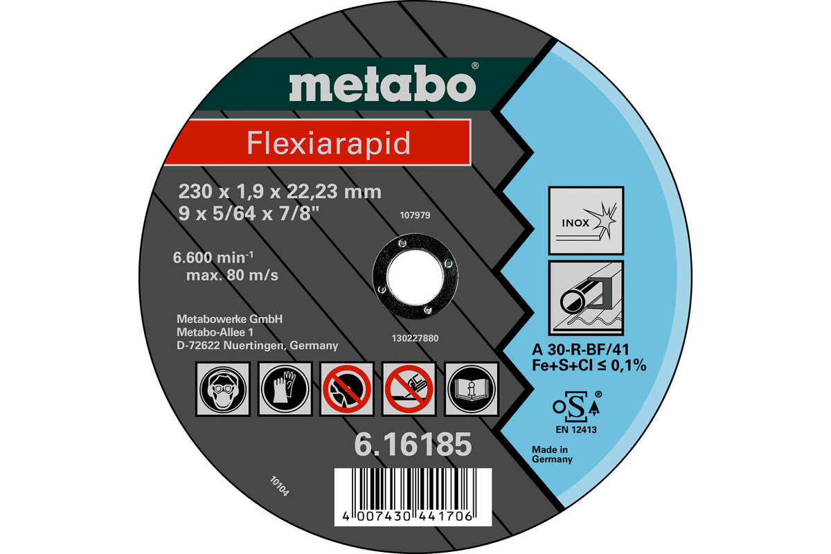 Flexiarapid 115x1,6x22,23 mm, nerūsējošajam tēraudam, GF 41 (616181000)