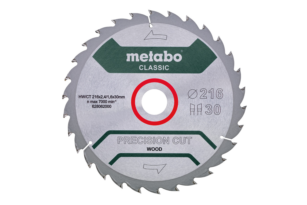 "Zāģa plātne ""precision cut wood – classic"", 216x30, Z30 WZ 22° (628062000)"