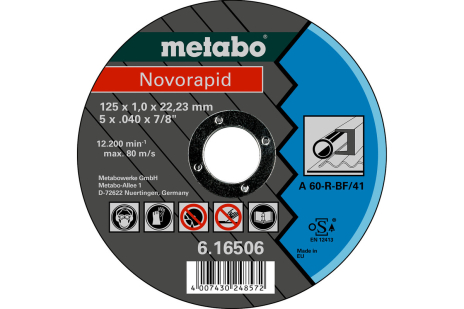 Novorapid 125 x 1,0 x 22,23 mm, tēraudam, GF 41 (616506000)