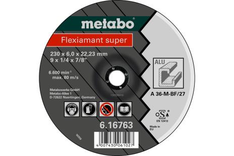 Flexiamant Super 125x6,0x22,23 mm, paredzēts alumīnijam, SF 27 (616749000)