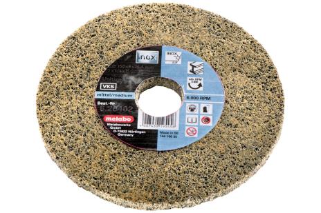 Kompaktais neaustā materiāla paketētais slīpēšanas disks Unitized, raupjš, 125x6x22,23 mm, leņķa slīpmašīnām (626482000)