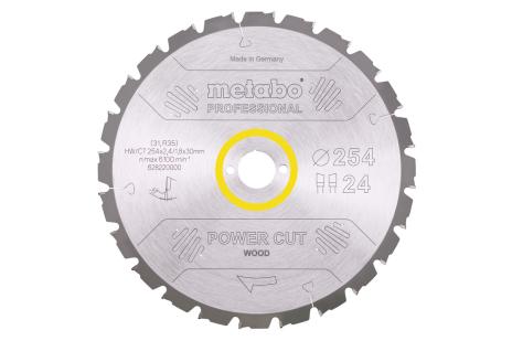 Ripzāģmašīnu asmens HW/CT, 315x30 mm, 24 pamīšus izvietoti zobi, 20° (628016000)