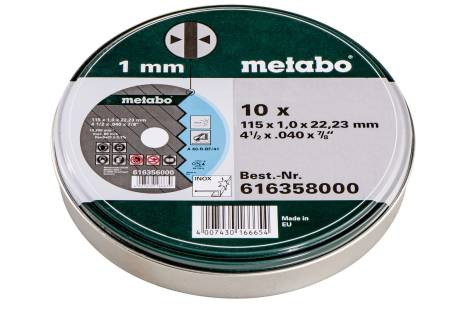 """10x griezējdiski """"SP"""" 115x1,0x22,23 Inox, TF41 (616358000)"""