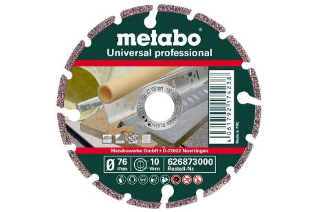 "Dimanta griezējdisks 76x10,0mm, ""UP"", Universal ""professional"" (626873000)"