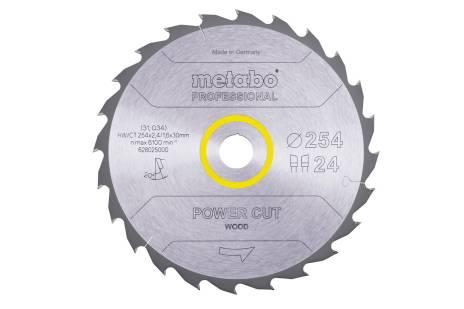 "Zāģa plātne ""power cut wood– professional"", 254x30, Z24 WZ 20° (628025000)"