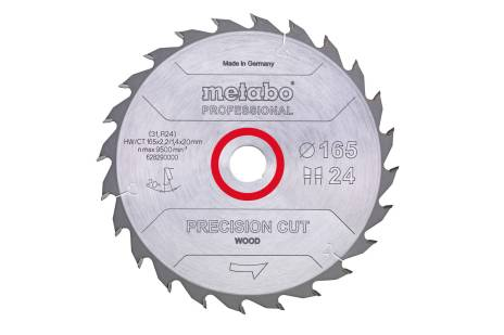 "Zāģa plātne ""precision cut wood – professional"", 160x20, Z24 WZ 20° (628031000)"