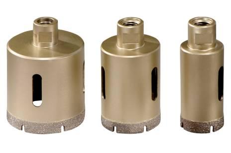Dimanta kroņurbju flīzēm komplekts Dry, 3 urbji, M14 (628322000)