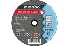 Flexiarapid Super 230x1,9x22,23 mm, nerūsošajam tēraudam, GF 41 (616228000)