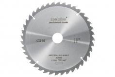 Ripzāģmašīnu asmens HW/CT, 216x30 mm, 40 pamīšus izvietoti zobi, 5° (628065000)