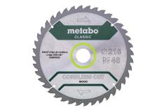 "Zāģa plātne ""precision cut wood – classic"", 216x30, Z40 WZ 5° (628065000)"