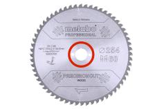 Ripzāģmašīnu asmens HW/CT, 254x30 mm, 48 pamīšus izvietoti zobi, 5° neg. (628221000)