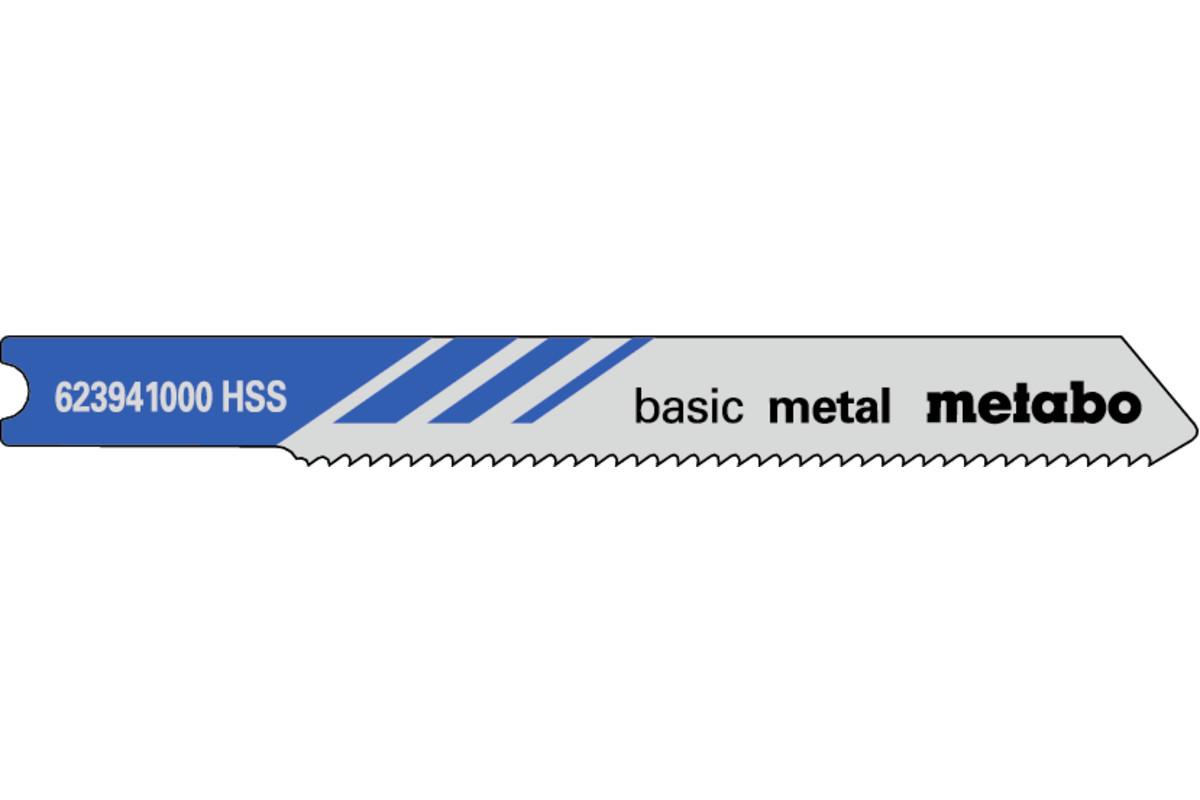 5 U-decoupeerzaagbladen, metaal, classic, 52/1,2mm (623941000)