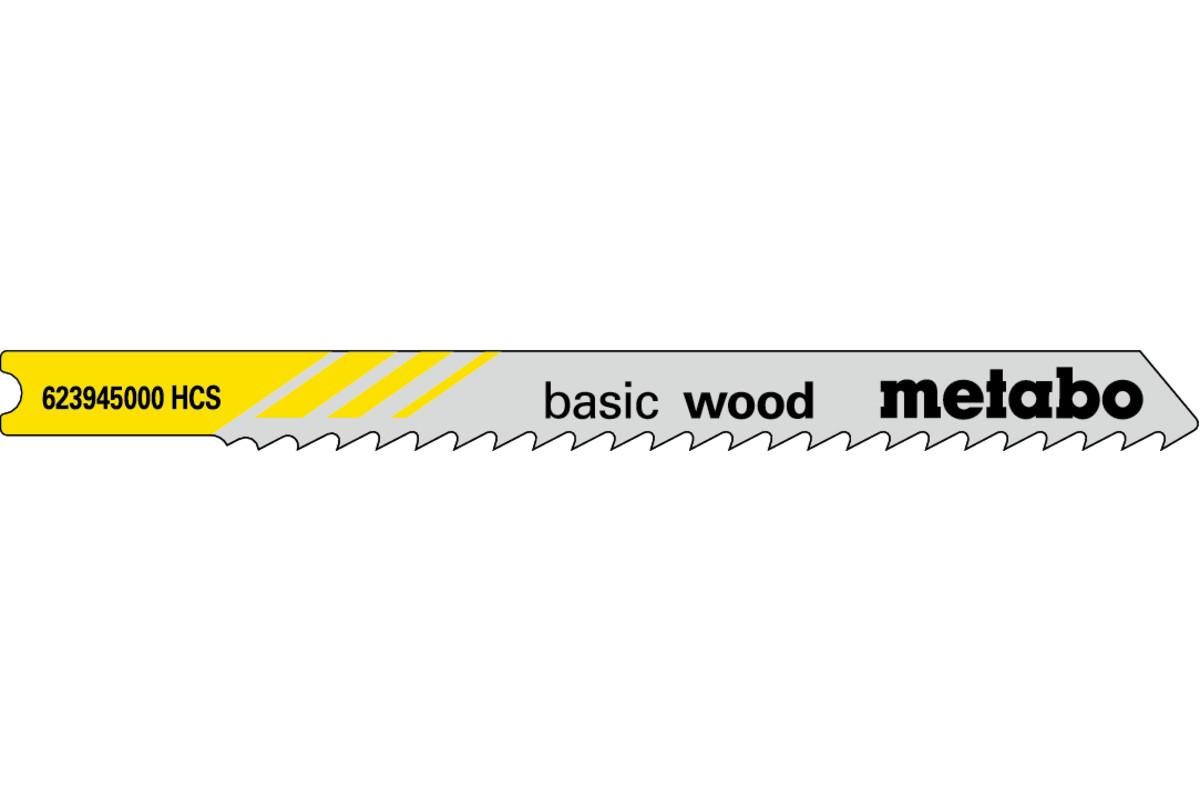 5 U-decoupeerzaagbladen, hout, classic, 74/3,0mm (623945000)