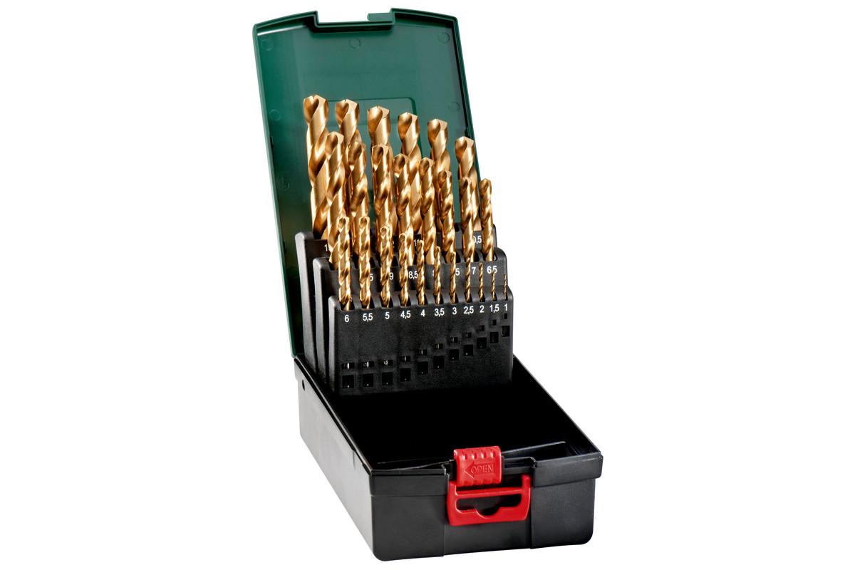 HSS-TiN-boorcassette, 25-delig (627191000)