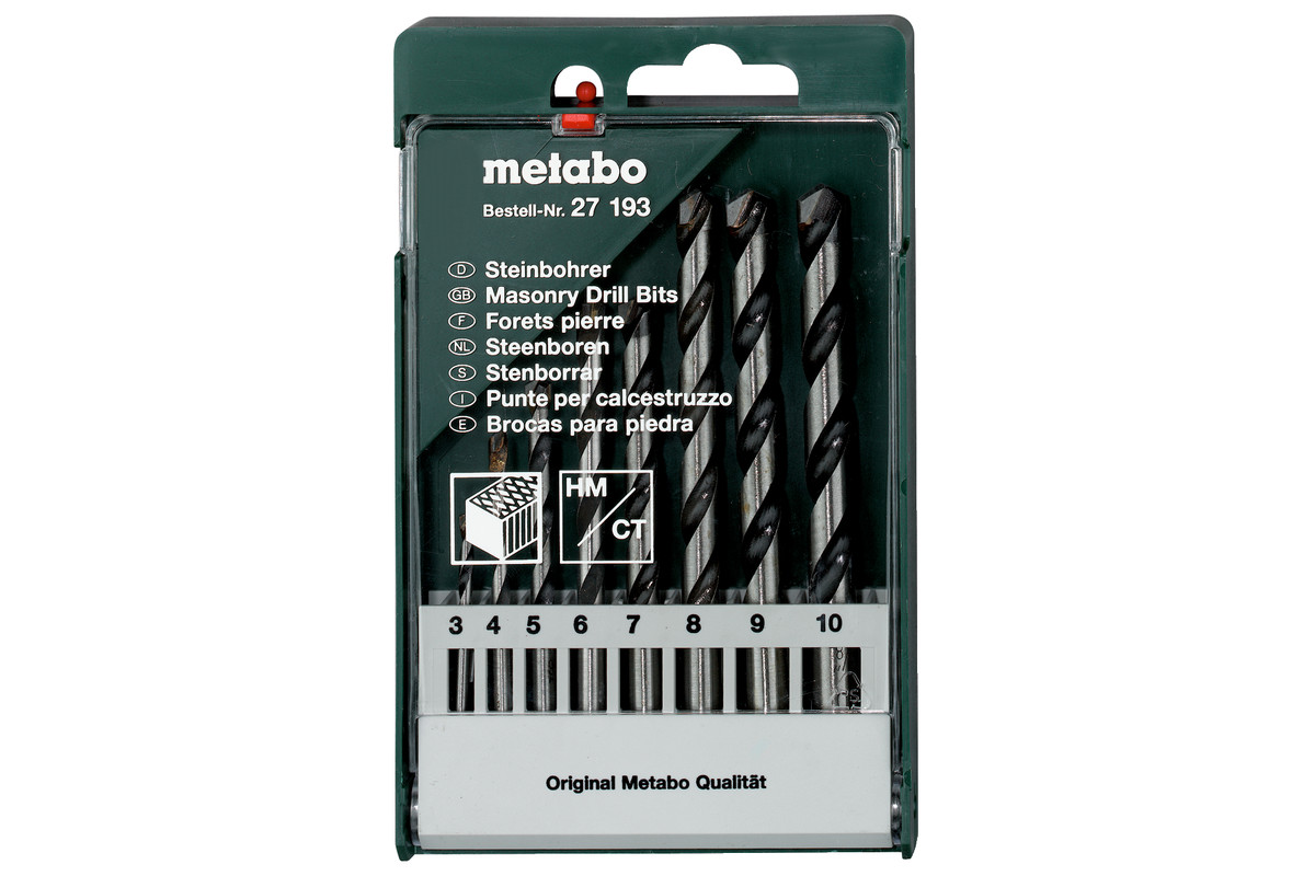 Steenboor-cassette, 8-delig (627193000)