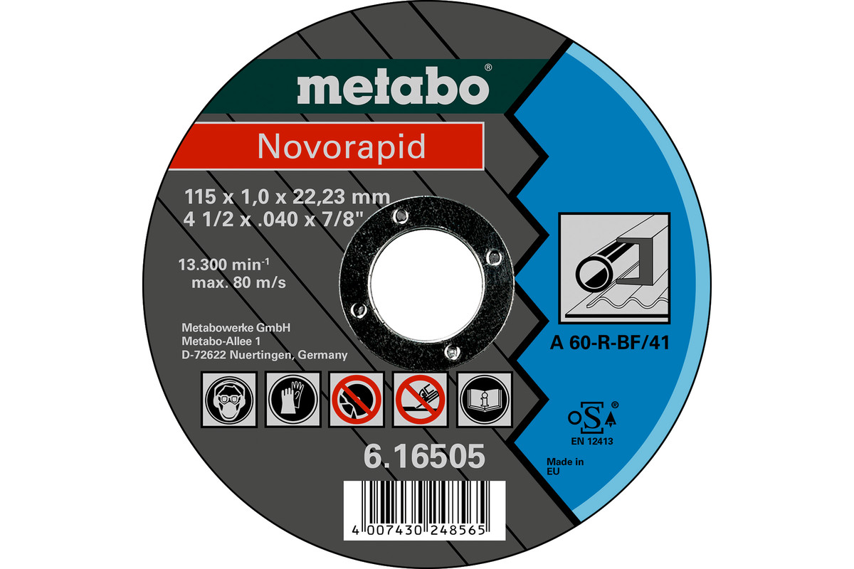 Novorapid 115 x 1,0 x 22,23 mm, staal, TF 41 (616505000)