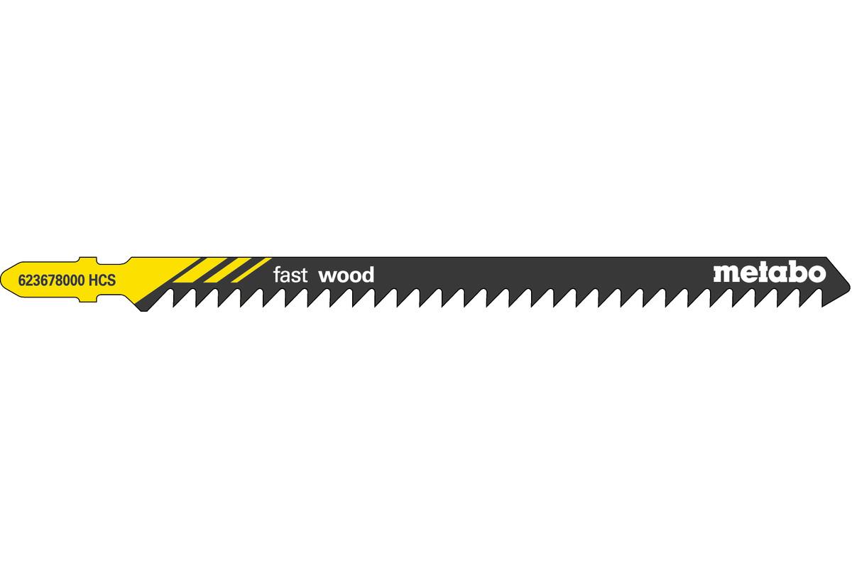 """5 decoupeerzaagbladen """"fast wood"""" 126/4,0 mm (623678000)"""