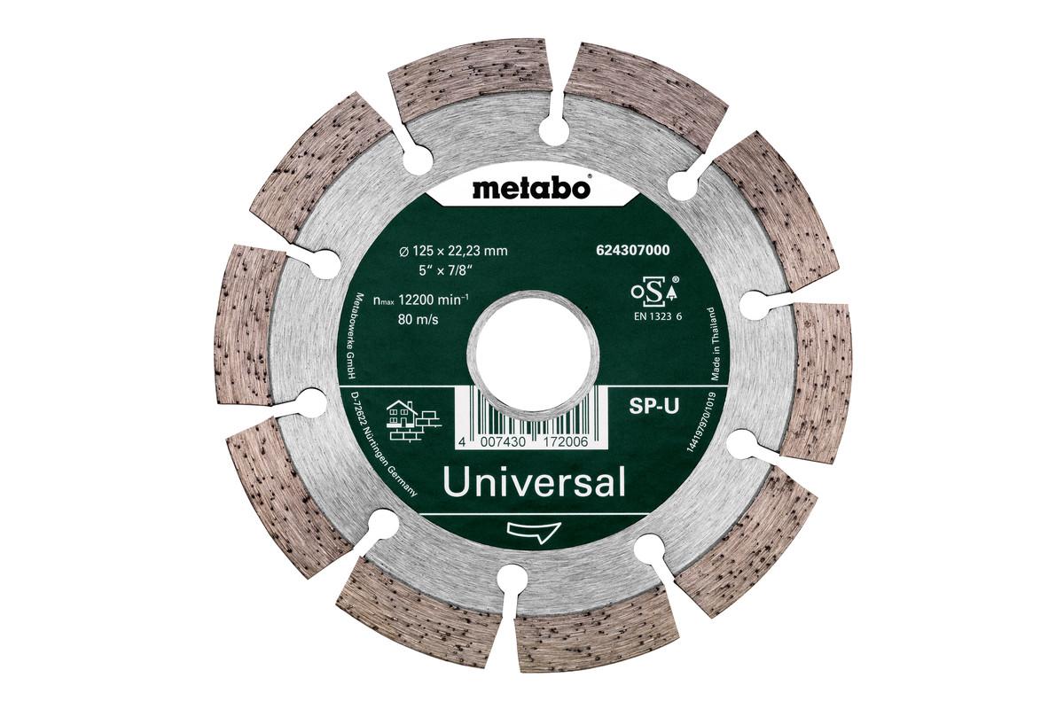 Diamant-doorslijpschijf - SP - U, 125x22,23 mm (624307000)