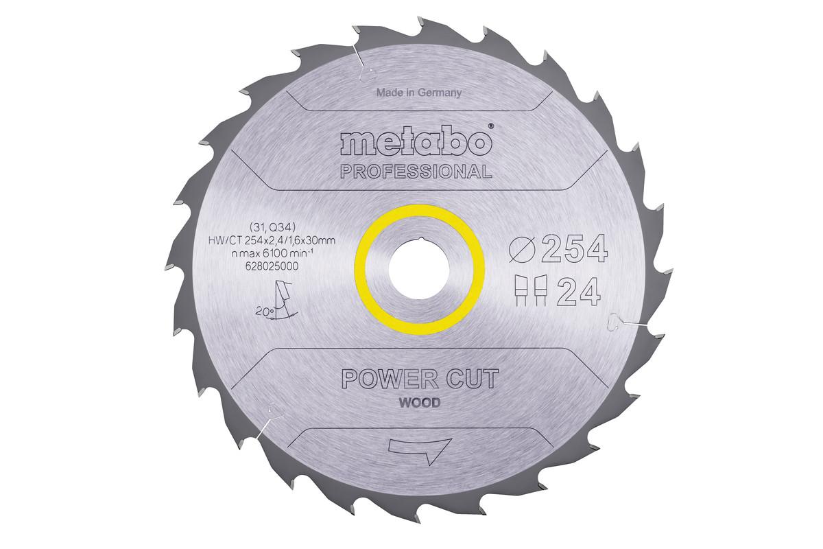 "Zaagblad ""power cut wood - professional"", 254x30, Z24 WZ 20° (628025000)"