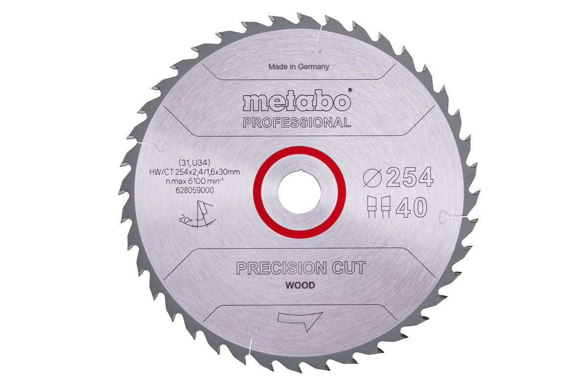 """Zaagblad """"precision cut wood - professional"""", 254x30, Z40 WZ 20° (628059000)"""