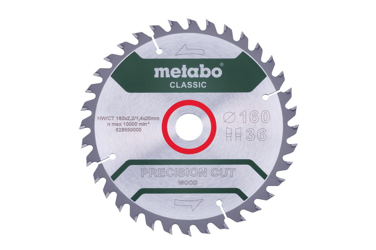 """Zaagblad """"precision cut wood - classic"""", 160x20 Z36 WZ 10°/B (628659000)"""