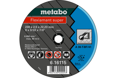 Flexiamant super 230x2,5x22,23 staal, TF 41 (616115000)