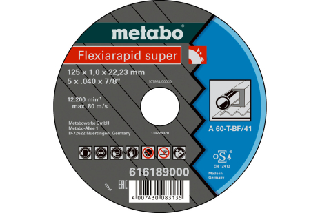 Flexiarapid super 125x1,6x22,23 staal, TF 41 (616192000)