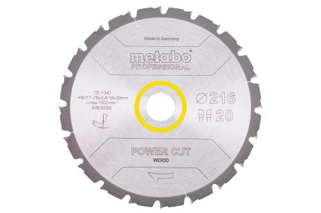 Cirkelzaagblad HW/CT 216x30, 20 WZ 5° neg. (628230000)