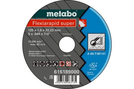 Flexiarapid super 115x1,0x22,23 staal, TF 41 (616188000)