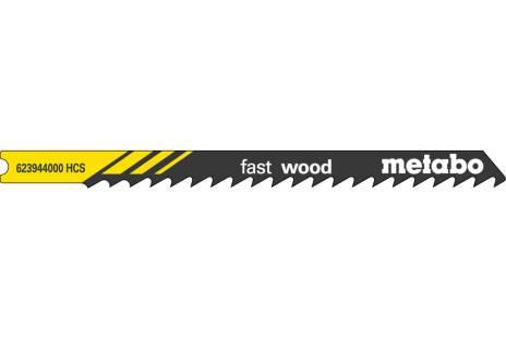 "5 U-decoupeerzaagbladen ""fast wood"" 82/4,0 mm (623944000)"