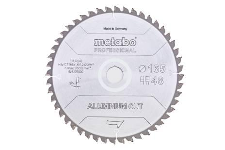 """Zaagblad """"aluminium cut - professional"""", 165x20 Z48 FZ/TZ 5°neg (628276000)"""